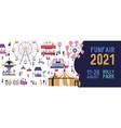 funfair 2021 banner in flat vector image