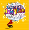 funky greeting card vector image