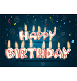 Happy birthday candle with confetti vector image vector image