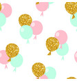 Happy birthday seamless pattern with balloons