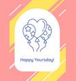 happy birthday to special person postcard vector image
