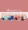 happy grandparents day vector image
