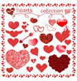 hearts items design set for everything vector image