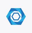 hexagon tech logo vector image