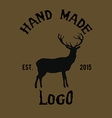 Hipster logotype with deer vector image vector image