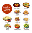 indian cuisine food traditional dishes vector image vector image