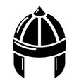 knight helmet guard icon simple black style vector image vector image