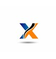 Letter X logo vector image vector image
