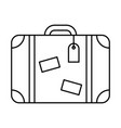 line icon suitcase vector image