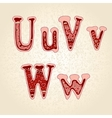 Love the alphabet with a with ornamental letters vector image vector image