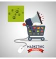 Marketing online design ecommerce icon Isolated vector image vector image