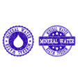 mineral water grunge stamp seals vector image vector image