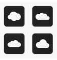 modern cloud icons set vector image vector image