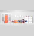 modern doctor cabinet with furniture empty no vector image vector image