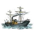 motor ship in sea summer adventure active vector image vector image