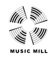 music logo piano as wind mill icon simple style vector image vector image