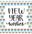 new year wishes handwritten christmas greeting vector image