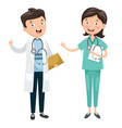 of health care and medical vector image