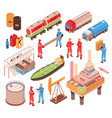 oil gas isometric icons vector image vector image