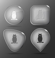 Owl Glass buttons vector image