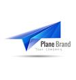 Paper plane logo design idea Origami toy symbol vector image vector image
