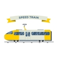 Passenger and transportation trains vector image vector image