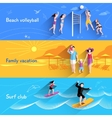 People On Beach Banner vector image