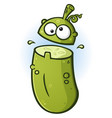 pickle cartoon mascot flipping his lid vector image vector image