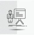 presentation businessman chart graph progress vector image