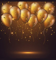 realistic 3d glossy golden balloons vector image vector image