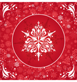 Red christmas card vector image vector image