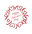 red valentines day frame with text space vector image vector image