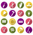repair icons set vector image vector image