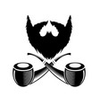 retro wooden smoking pipe icon vector image vector image
