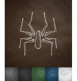spider icon Hand drawn vector image