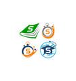symbol v template set vector image vector image