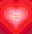 valentine day heart greeting card template vector image vector image