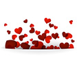 Valentines background with red hearts vector image vector image