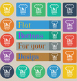 Vegan food graphic design icon sign Set of twenty vector image vector image
