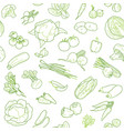 vegan food seamless pattern design template vector image