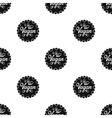 Vegan icon in black style isolated on white vector image