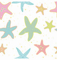white pattern with starfish and spot vector image vector image