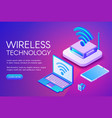 wirless internet technology vector image