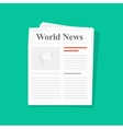 Newspaper folded icon front page top view vector image