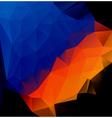 blue orange polygonal abstract vector image