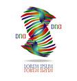 DNA Logo vector image