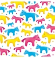 colorful toy horses seamless background vector image