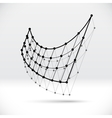 Abstract 3D wireframe shape with connected vector image vector image