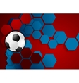Abstract geometric football background vector image vector image