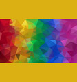 abstract irregular polygonal background rainbow vector image vector image